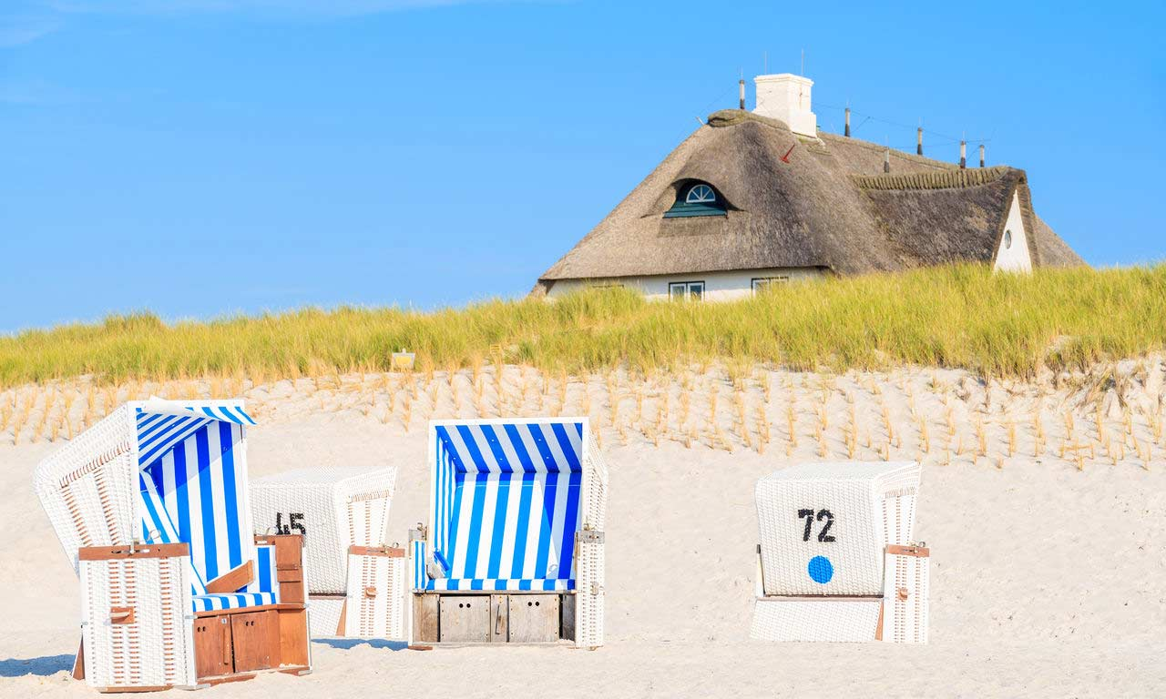 Deutschland Nordsee Insel Sylt Leuchtturm Dünen Erholung Urlaub Hotel