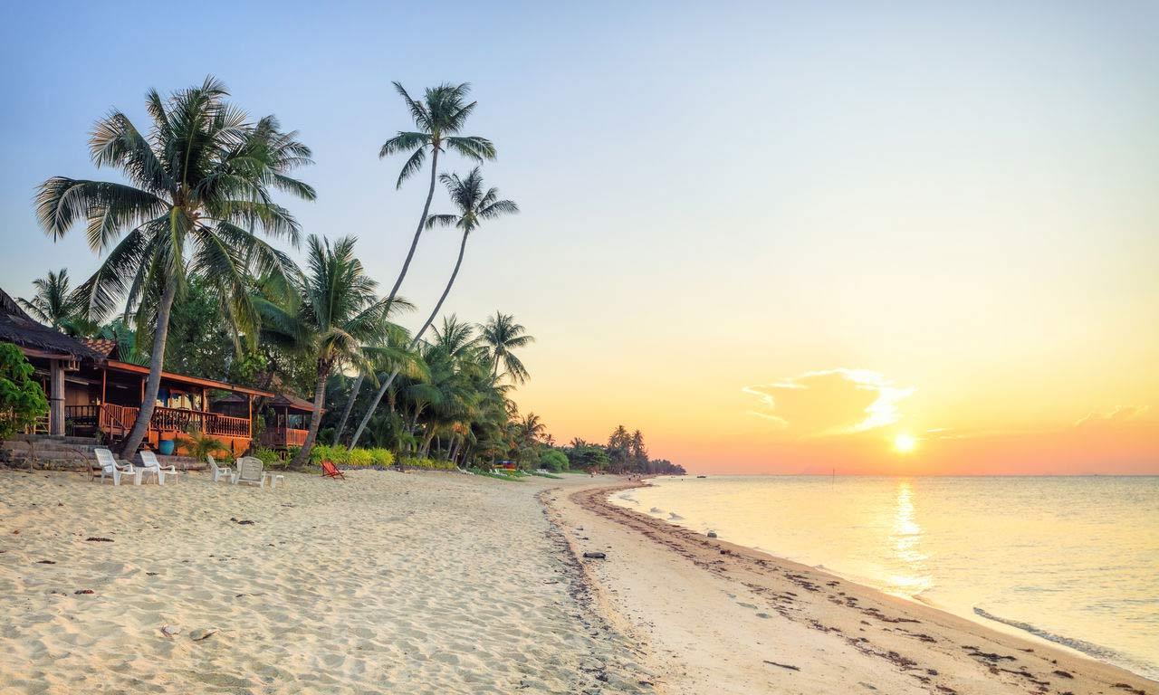 Mittelamerika Kuba Fernreise Sonnenuntergang Urlaub Palmen Sonne Meer