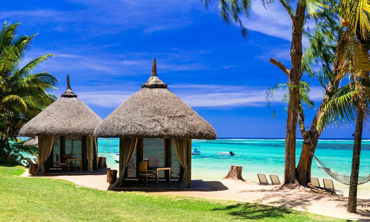 00289 afrika mauritius traumstrand palmen paradies sandstrand