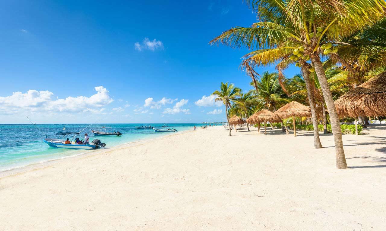 00300 Mexiko Urlaub Cancun Traumstrand Urlaub Fernreise Türkises Wasser Baden
