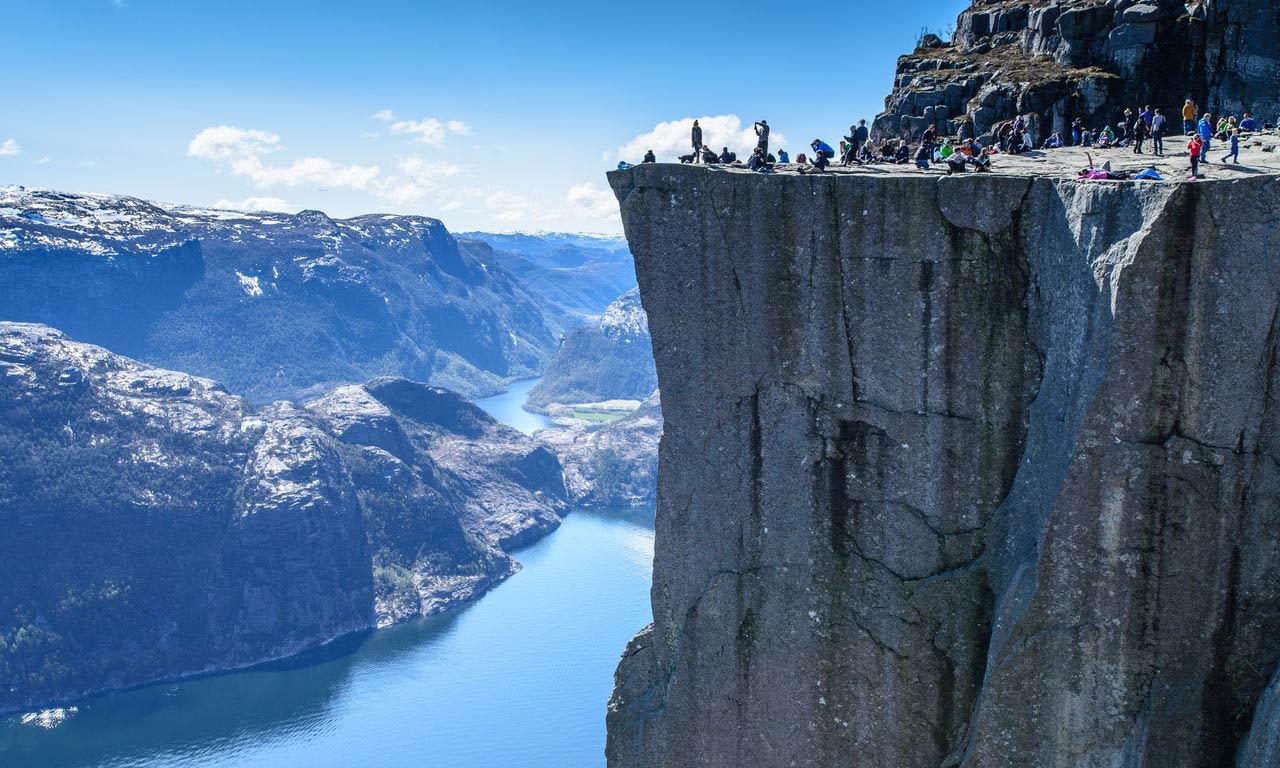 Skandinavien Norwegen Stavanger Lysefjord Preikestolen Urlaub