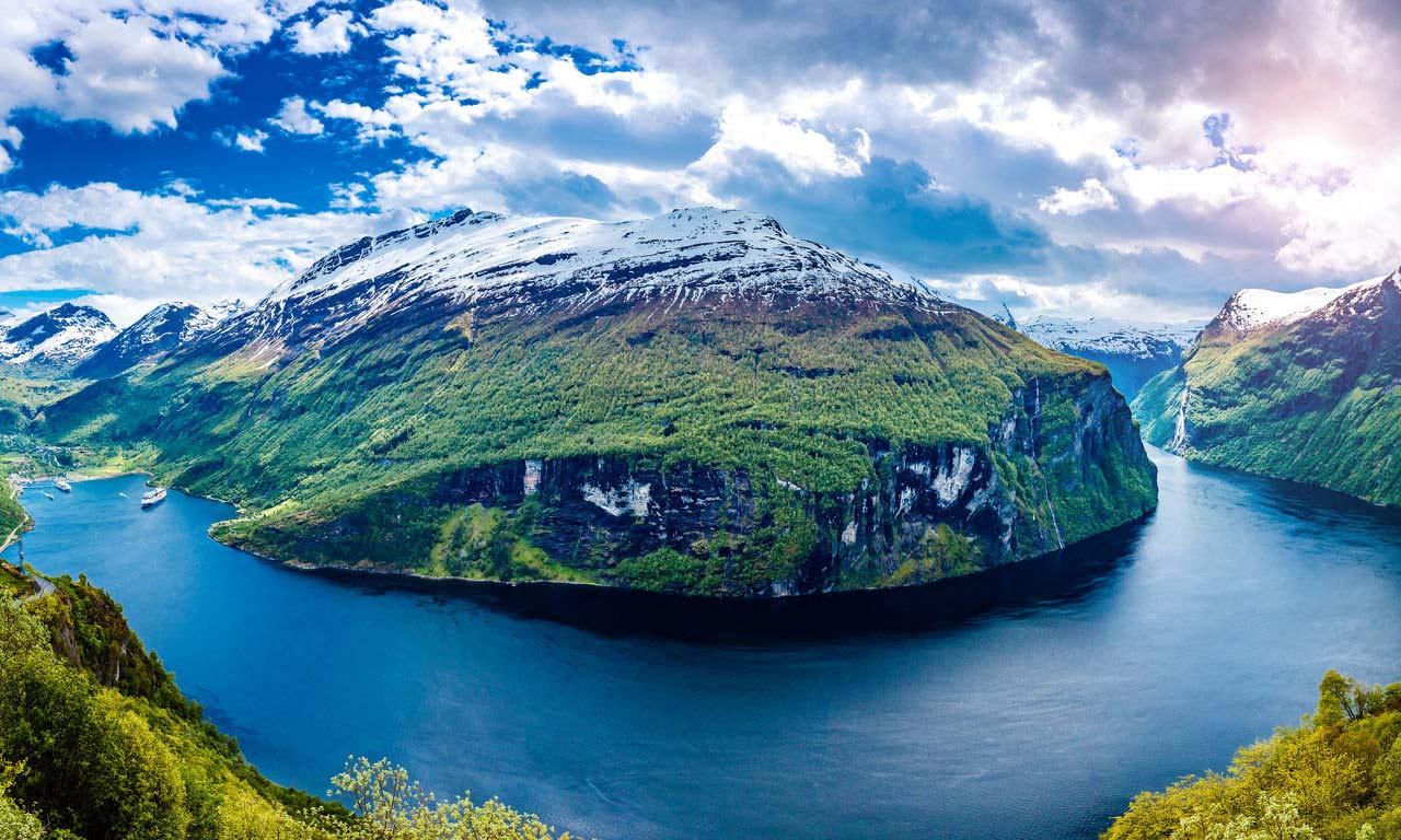 Skandinavien Norwegen Geiranger Fjord Great Fjord Ausflug Urlaub