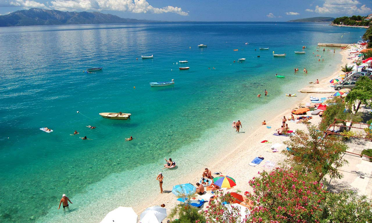 00365 europa koroatien brist adria dalmatien strand baden meer
