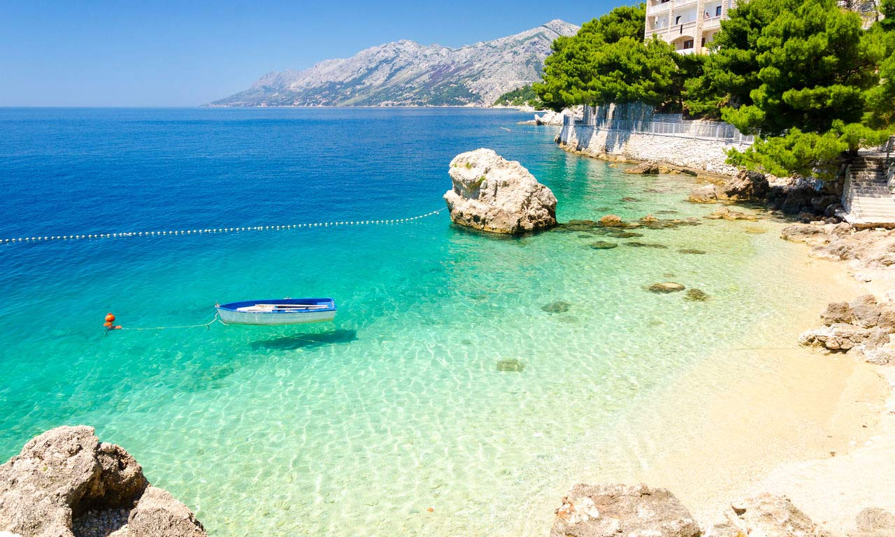 Europa Kroatien Makarska Riviera Brera Adria Bucht Urlaub