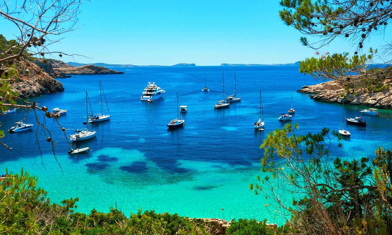 00402 europa spanien ballearen ibiza cala salada lagune all inclusive traumurlaub sommer mittelmeer baden sonne strand