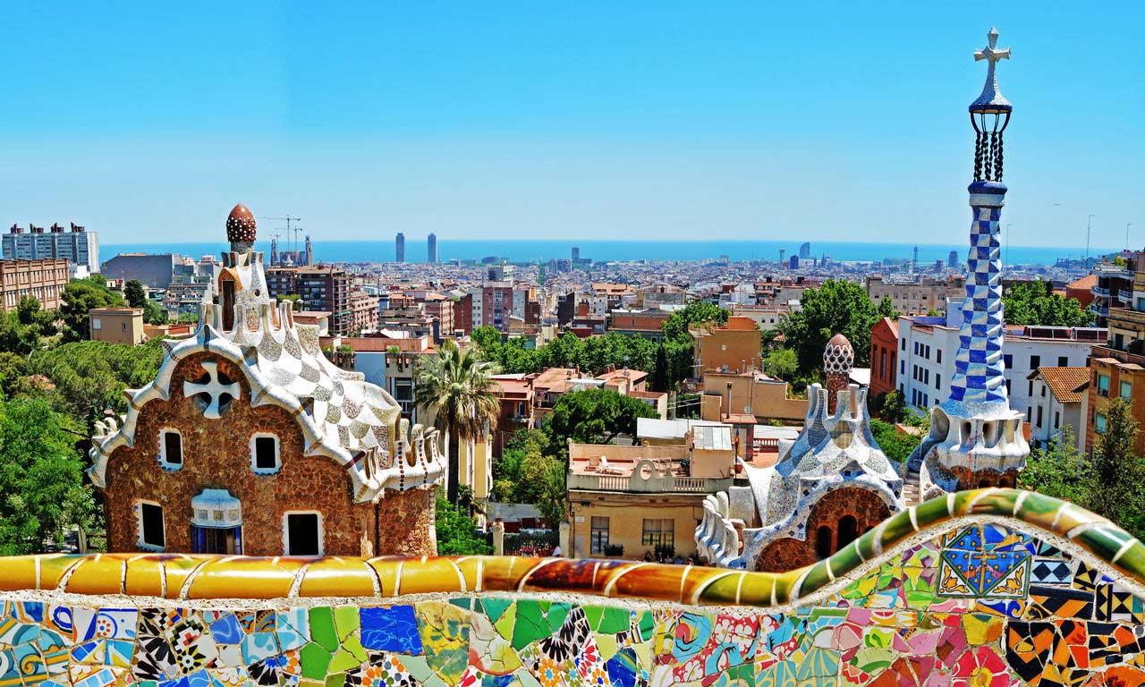 00536 europa spanien festland barcelona gaudi park guell städtereise trip wochenende