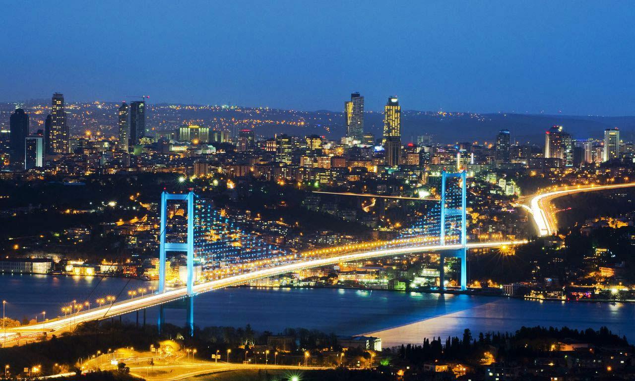 00549 türkei hotels in istanbul bosporus brücke nacht aussicht picoftheday