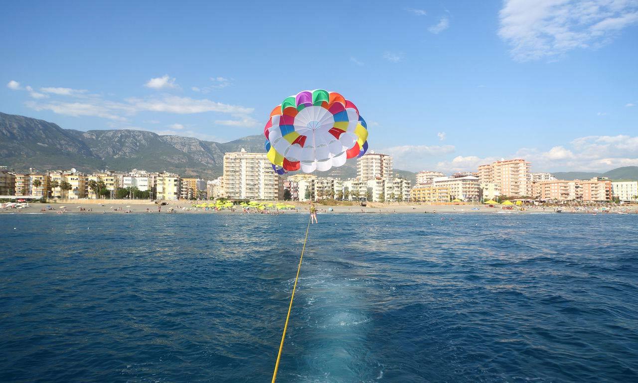00554 türkei side alanya parasailing wassersport fun spaß günstiger urlaub