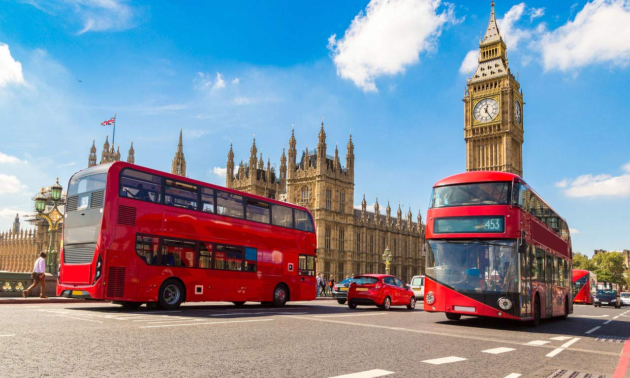 00686 england london hotel big ben westminster bridge doppeldecker bus rot urlaub kurzurlaub wochenende sightseeing