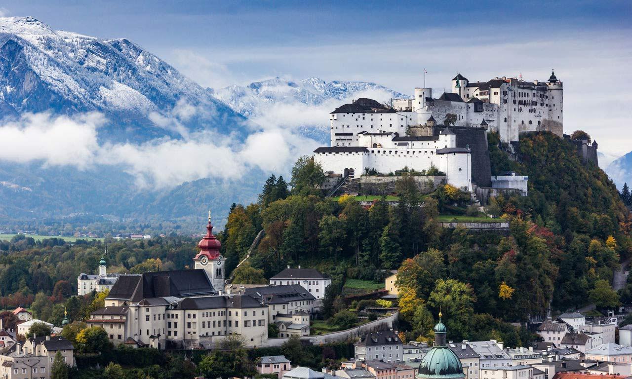 00694 Österreich hotels in salzburg festung hoghensalzburg wandern berge alpen urlaub hotel