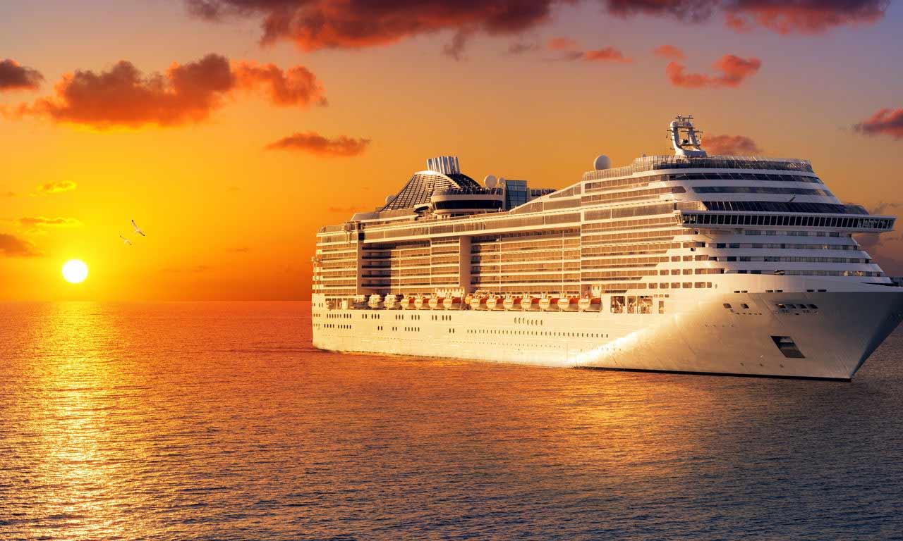 00733 Kreuzfahrt Kreuzfahrt Schiff Aida Costa Sonnenuntergang Urlaub Reisen