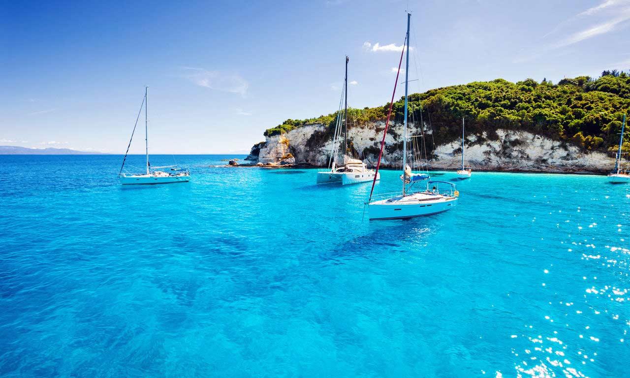 00825 korfu griechenland urlaub mittelmeer insel sommer strandurlaub erholung bootsausflug türkises wasser