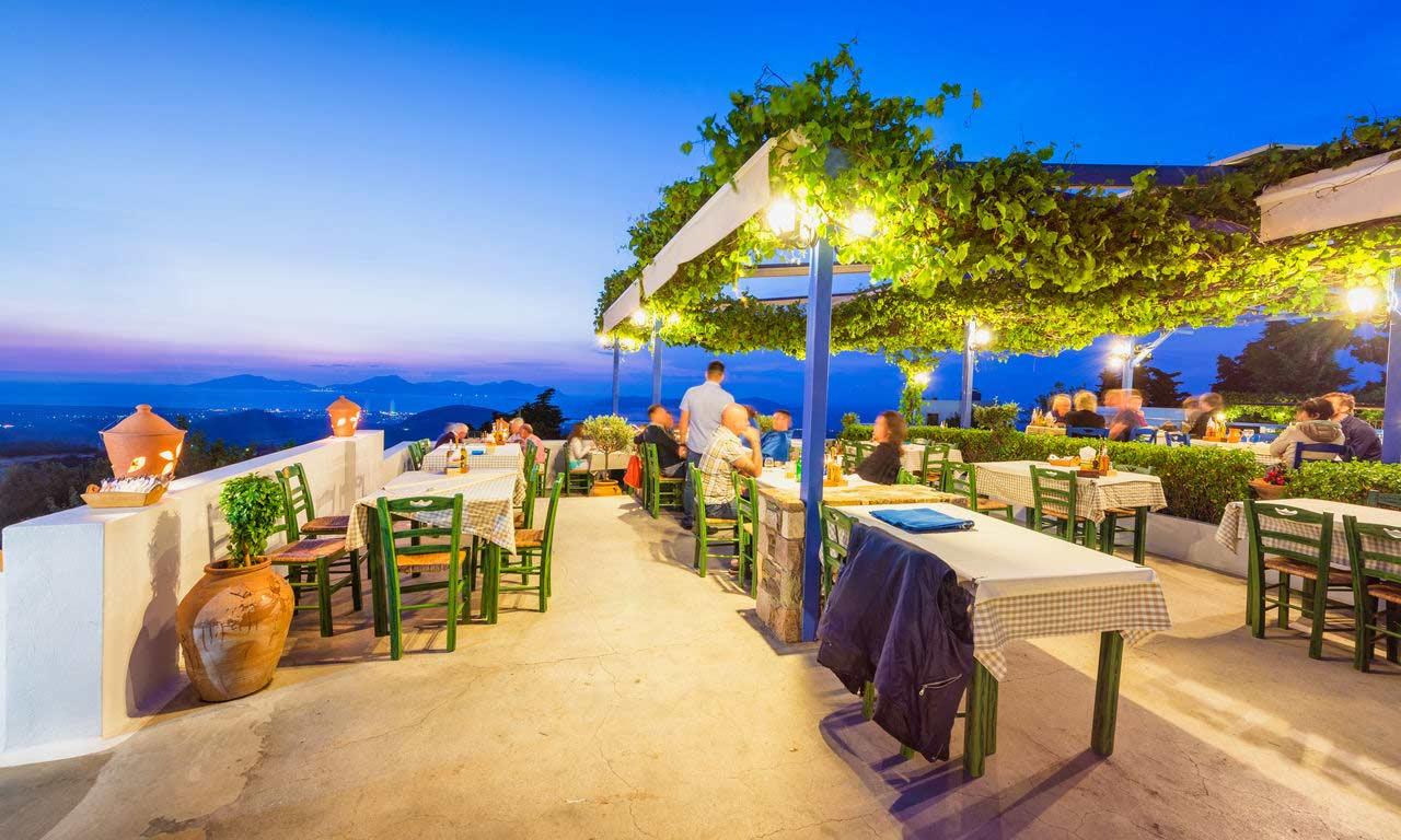 00839 hotels in kos griechenland urlaub mittelmeer insel sommer strandurlaub erholung strand abend cafe