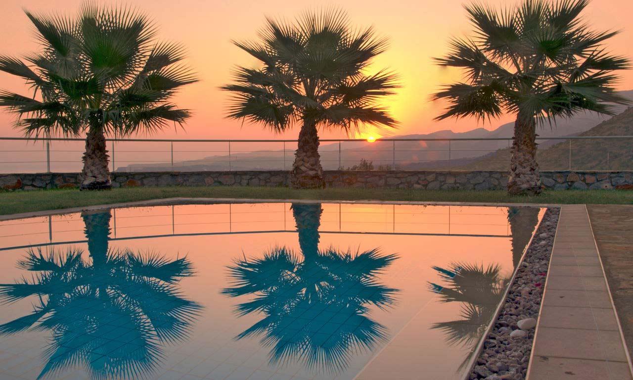 00983 Kreta Griechenland Urlaub Mittelmeer Insel Sommer Strandurlaub Erholung Sonnenuntergng