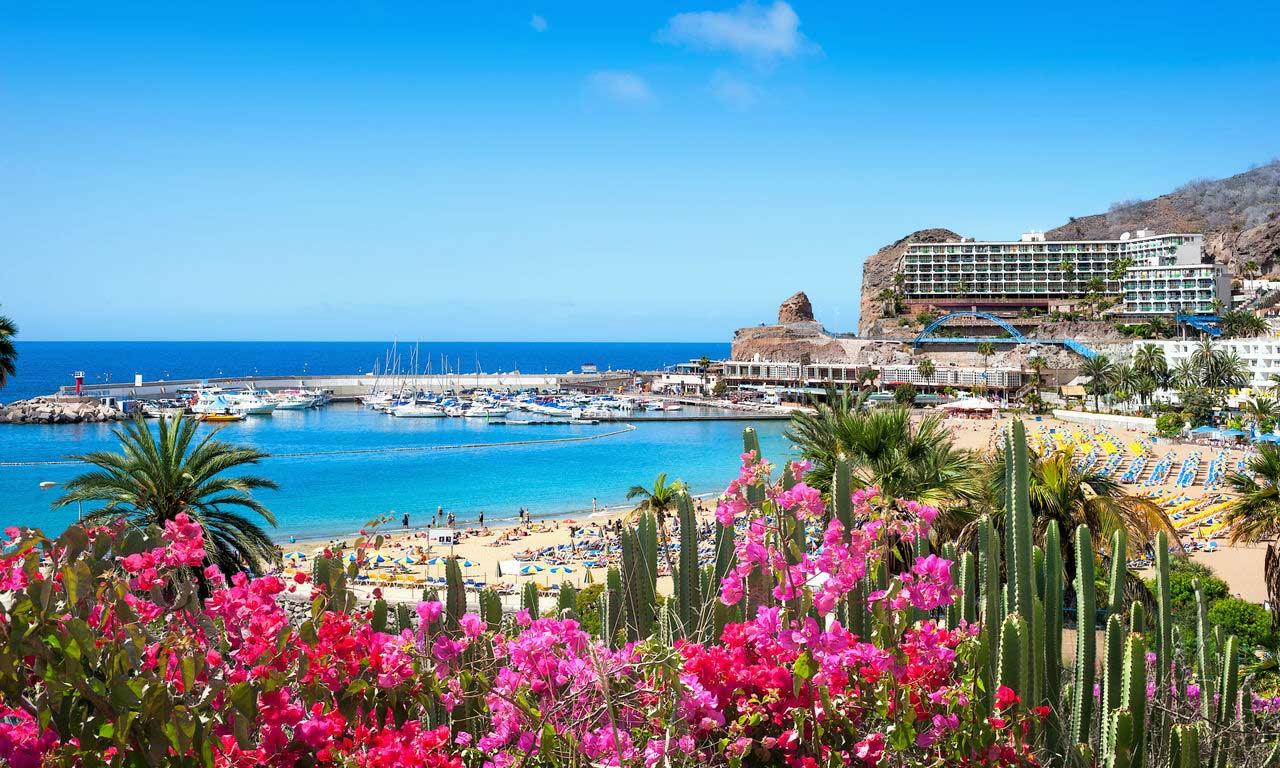 01249 urlaub gran canaria spanien atlantik kanaren insel puerto rico sommer strandurlaub erholung palmen