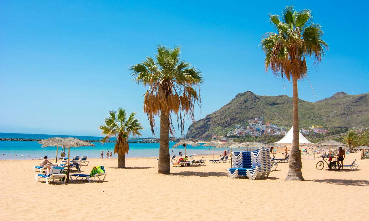 01303 kanaren urlaub teneriffa spanien atlantik kanaren insel sommer strandurlaub erholung palmen