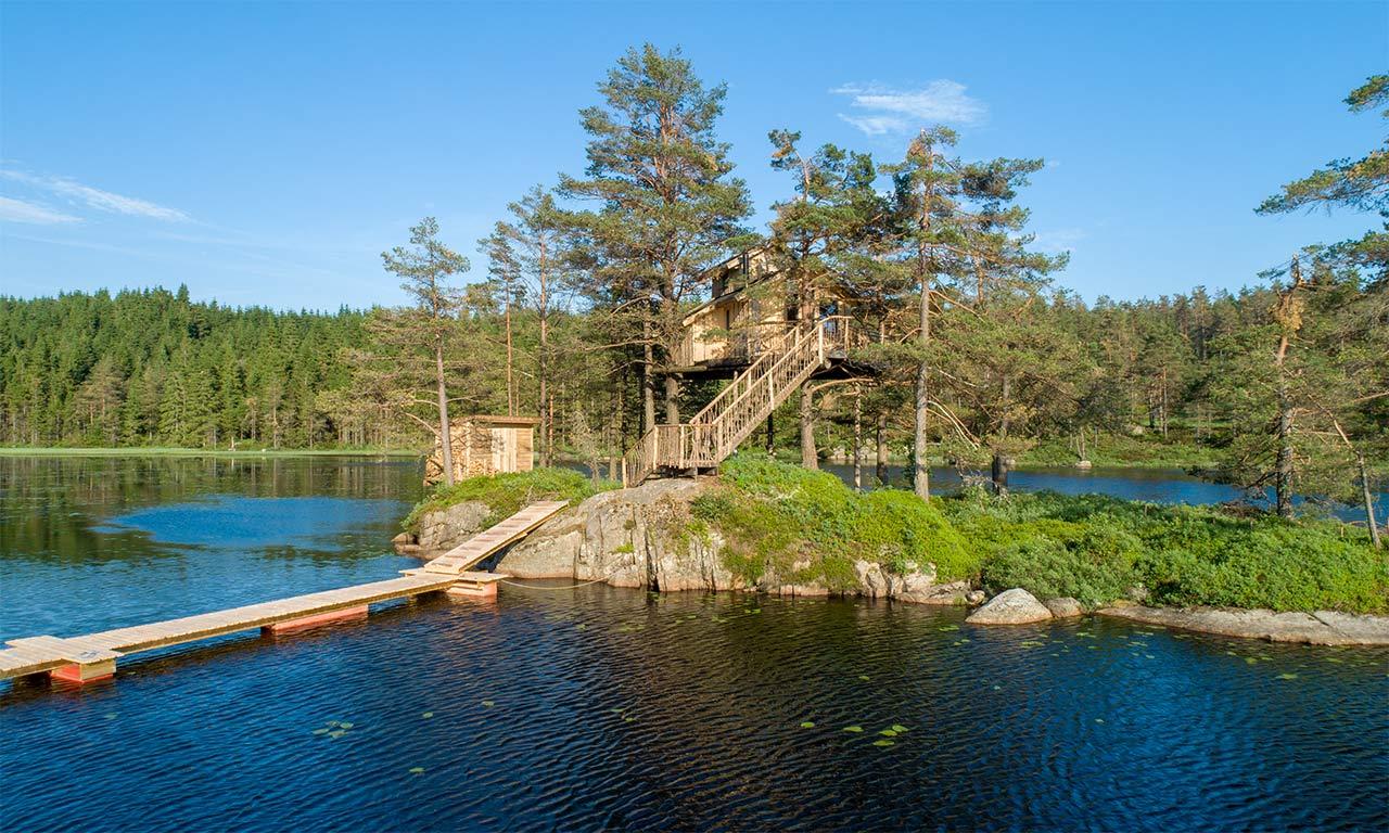 treetop fiddan ferienwohnung norwegen urlaub im baumhaus 2